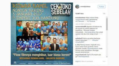 073159500 1483501655 ernestprakasa 400x222 Pujian Ridwan Kamil untuk Film Cek Toko Sebelah
