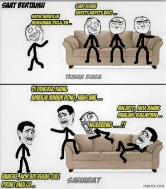 Persahabatan6 jancokcom 1 Meme Sahabat Paling Lucu dan Gokil, Ketawa Sendiri Boleh Kok