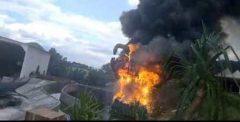 Patung Dinosaurus Jatim Park 3 Mendadak Terbakar