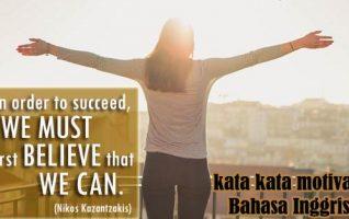 Kata-Kata Motivasi Dalam Bahasa Inggris Lengkap Dengan Artinya