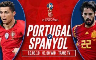 Nonton Portugal vs Spanyol - Live Streaming Trans TV