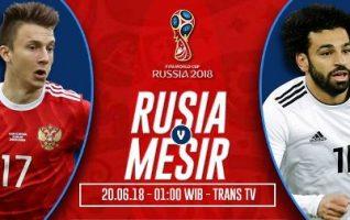 Nonton Rusia vs Mesir, Live Streaming Trans TV