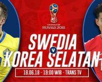 Nonton Bola Swedia vs Korea Selatan, Live Streaming Swedia vs Korea Selatan Trans TV, Link Streaming Swedia vs Korea Selatan, Tempat Nonton Swedia Korea Selatan Trans TV