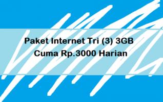 Paket Internet Tri 3GB Cuma Rp.3000 Gini Cara Belinya