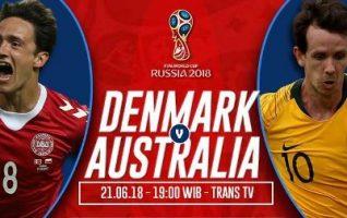 Prediksi Denmark vs Australia, Nonton Langsung Di Trans TV