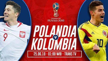 Nonton Polandia vs Kolombia, Bukan Live Streaming TRANS TV