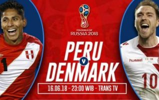 Nonton Peru vs Denmark, Live Streaming Trans TV