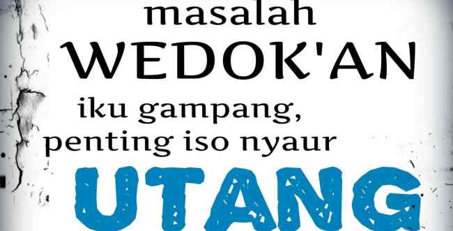 Kata Kata Lucu Bahasa Jawa Bawel Njengkelake