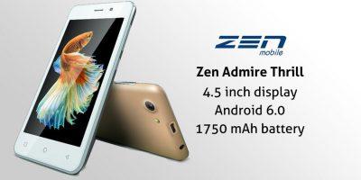 Zen Admire Thrill+ Hadir Dengan Harga Kalangan Kebawah.