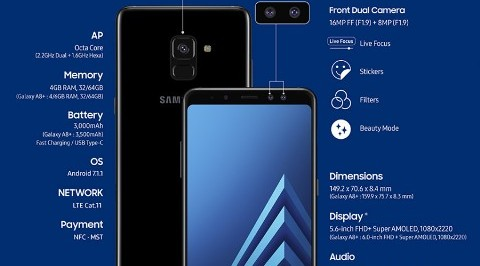 Samsung Galaxy A8 dan A8 Plus