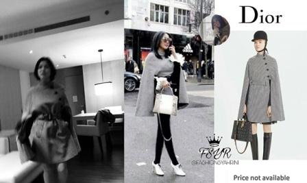 Syahrini Kenakan Baju Sama Yang Dipakai Song Hye Kyo