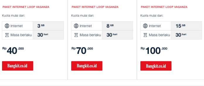 Harga Paket Loop Internet Vaganza 2018