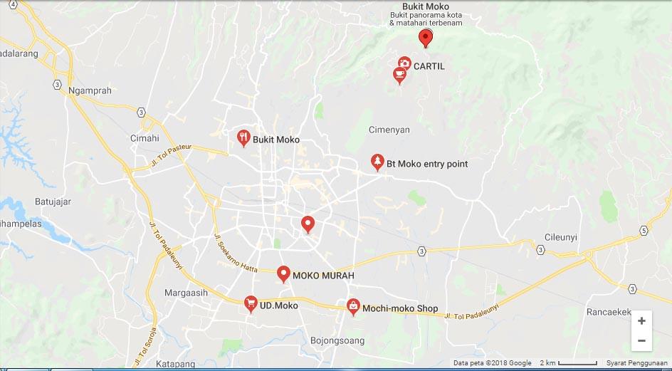 Denah Lokasi Bukit Moko Bandung