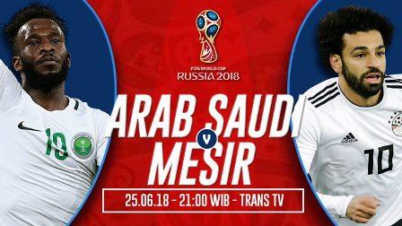 Nonton Arab Saudi vs Mesir, Link Live Trans TV 21:00wib[Ok]