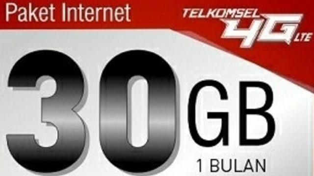 Paket Internet Telkomsel 30Gb Cuma 10 Rb