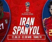Prediksi Iran vs Spanyol, Tempat Nonton Bola TransTV Live Streaming