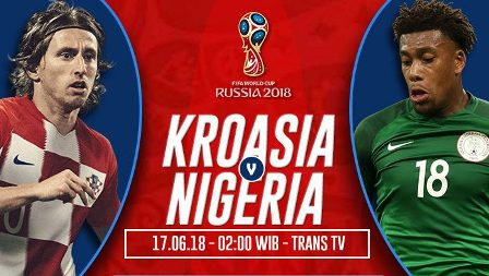 Nonton Kroasia vs Nigeria Di Live Streaming Trans TV 02.00