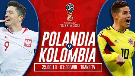 Nonton Polandia vs Kolombia, Bukan Live Streaming TRANS TV