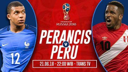 Prediksi Prancis vs Peru, Tempat Nonton Live Streaming TV