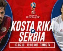 Nonton Kosta Rika vs Serbia, Link Live Streaming Trans TV