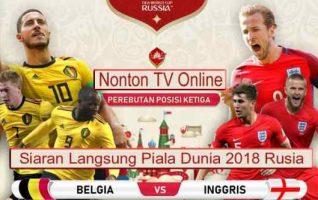 Nonton Belgia vs Inggris, Siaran TV Online Trans TV 21.OOWib