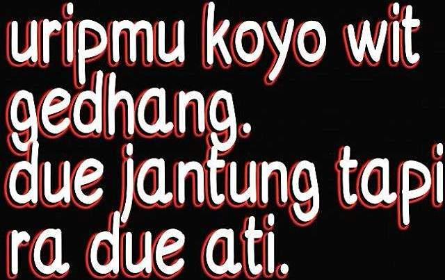 Status Whatsapp bahasa Jawa