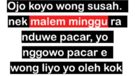 Kata Kata Malam Minggu Bahasa Jawa