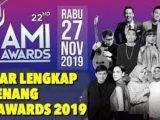 51 Pemenang AMI Awards 2019 Resmi Diumumkan Hari Ini