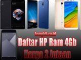 Daftar Harga HP RAM 4GB Murah 2 Jutaan