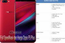 Harga Oppo F5 Plus Full Spesifikasi Layar 6.0 inci Kamera Selfie 20MP
