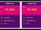 Harga dan Cara Mengaktifkan Paket Internet OBOR AXIS 19Rb 5Gb