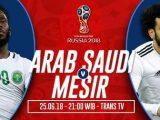 Nonton Arab Saudi vs Mesir, Link Live Streaming Trans TV