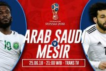 Nonton Arab Saudi vs Mesir, Link Live Streaming Trans TV
