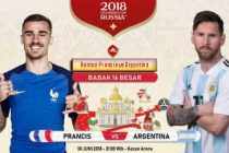 Nonton Prancis vs Argentina, Link Live Streaming Trans TV KlikPlay