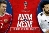 Nonton Rusia vs Mesir, Live Streaming Trans TV