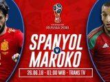 Nonton Spanyol vs Maroko Live Streaming TV Prantinjau Laga