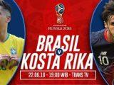 Prediksi Brasil vs Kosta Rika, Nonton Streaming Trans TV