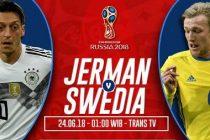 Prediksi Jerman vs Swedia, Nonton TV Streaming
