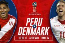 Prediksi Skor Peru vs Denmark, 23.00wib Live Streaming Trans TV