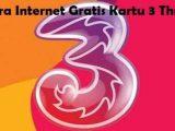Trik Internet 2018, Cara Dapatkan Kuota Gratis Tri Hingga 100GB